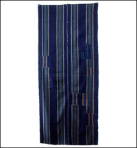 Large Old Boro Stripe Indigo Cotton Panel