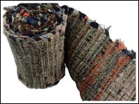 Primitive Old Cotton and Silk Hand Made Sakiori Obi Exceptional