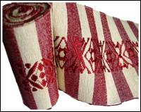 Old Long Cotton Hand Loomed Sakiori Obi