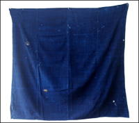 DIY Repair Indigo Patched Cotton Furoshiki Wrapping Cloth