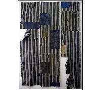 SALE 3 Panel Set Stripe Cotton Indigo Textiles