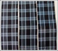 SALE 3 Panel Set Check Cotton Indigo Textiles
