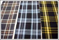 SALE 3 Panel Set Mixed Check Cotton Indigo Textiles