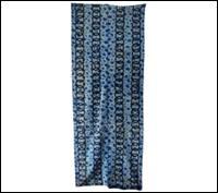 Old Indigo Shibori Katazome Cotton Textile