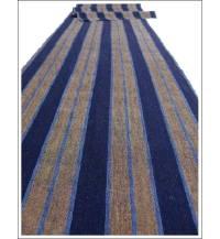 Indigo  Brown Stripe Textile Shima