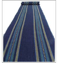 Stripe Cotton Indigo  Brown Textile