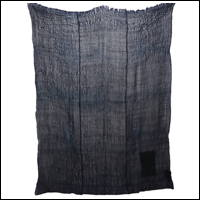 Dark Indigo Hemp Boro Patched Kaya Mosquito Netting