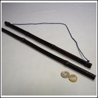 Japanese Bamboo Textile Hanger Natural Dark ColorNot Dyed