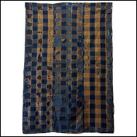 Early Ragged  Tattered  Indigo Boro Cotton Futon Cover Sashiko Stitching