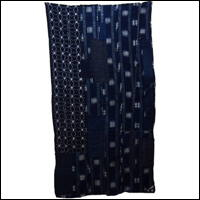 Early Kasuri Indigo Cotton Boro Futon Cover