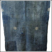 Early Indigo Hemp Boro Futon Cover