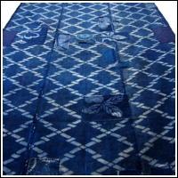 Early Katazome Indigo Cotton Boro Futon Cover