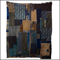Early Indigo Cotton Boro Textile