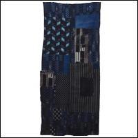 Early Indigo Kasuri Cotton Boro Textile