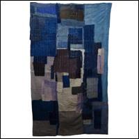 Early Indigo Cotton Boro Shikibuton Futon Underquilt Padding Sashiko Stitching