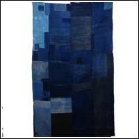 Early Indigo Cotton Copious Sashiko Boro Futon Textile