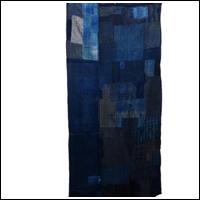 Early Indigo Cotton Sashiko Boro Futon Textile