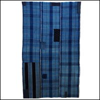 Early Boro Wonderful Indigo Check Cotton Futon Cover