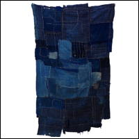 Fragment Of Early Boro Indigo Cotton Futon Cover