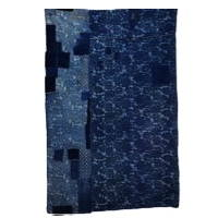 Early Indigo Cotton Katazome Boro Futon Textile