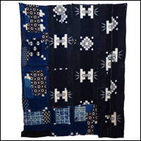 Wonderful Indigo Cotton Kasuri Boro Textile Futon Cover
