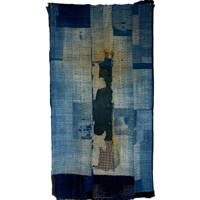 Outstanding Early Indigo Cotton Boro Textile