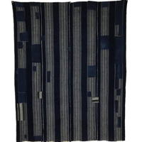 Early Boro Indigo Stripe Cotton Futon Cover