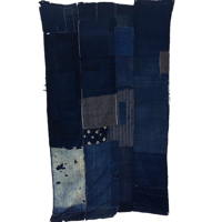 Early Indigo Cotton Boro Futon Cover