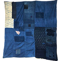 Large Early Indigo Cotton Boro Futon Cover