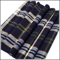 SaleOld Check Indigo Cotton Textile