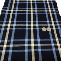 Lovely Old Check Homespun Hand Woven Indigo Cotton Textile