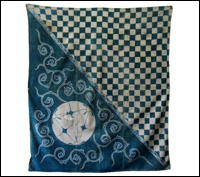 Early Tsutsugaki Design Cotton Indigo Furoshiki Cover
