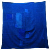 Early Cotton Solid Indigo Furoshiki Cover