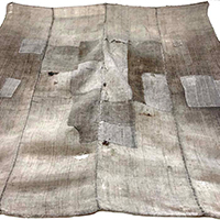 Large Natural Hemp Boro Furoshiki Textile  Better Than It Looks