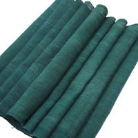 Extra Long Solid Green Cotton Textile