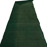 Short Length Solid Green Cotton Textile 1 yard meter