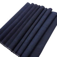 Long Old Solid Dark Indigo Thick Cotton Textile Panel