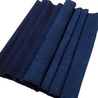 Old Solid Dark Indigo Thick Cotton Textile Panel