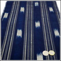 Unique Old Kasuri Indigo Cotton Hand Loomed Textile Panel