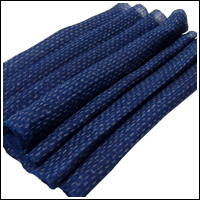 Finely Woven Indigo Kasuri Hemp Textile Panel