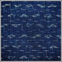 Finely Woven Indigo Kasuri Hemp Textile Panel
