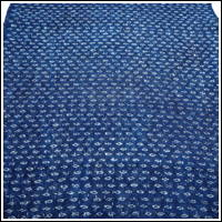 Finely Woven Dark Indigo Kasuri Hemp Textile