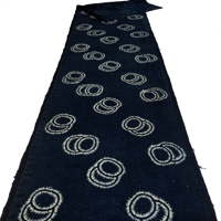 Long Length Of Katazome Indigo Cotton Textile
