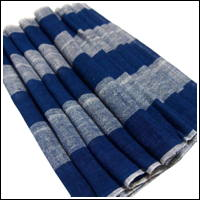 Long All Cotton Blue Indigo Stripe Kaya Mosquito Netting Exceptional Textile