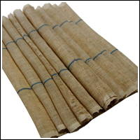 Kaya Natural Beige  Indigo Stripe Hemp Mosquito Netting