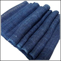 Extra Long Kaya Nicely Faded Dark Indigo Hemp Mosquito Netting