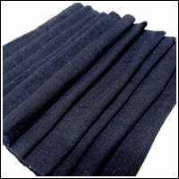 Extra Long Kaya Mixed Cotton Hemp Very Dark Indigo Mosquito Netting