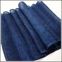 Lovely Blue Indigo Kaya Hemp Mosquito Netting
