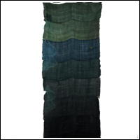 Interesting Stacked Variegated GreenBlue Boro Patched 100 Hemp Kaya Mosquito Netting