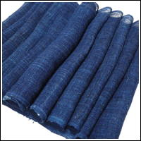 Extra Long Lovely Blue Indigo Kaya Hemp Mosquito Netting